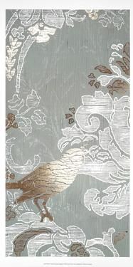 Gilded Damask Songbird I by June Erica Vess