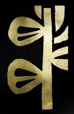 Gold Foil Symbiotic V on Black by June Erica Vess
