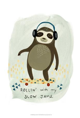 Hipster Sloth II by June Erica Vess