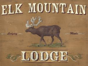 Lodge Sign III by June Erica Vess