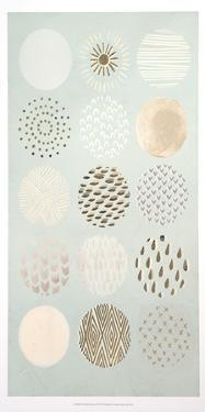 Metallic Foil Playful Patterns II by June Erica Vess