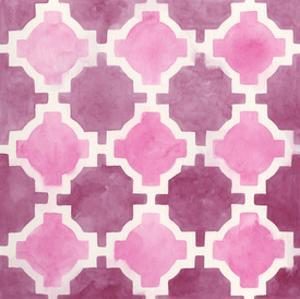 Watercolor Tile V by June Erica Vess