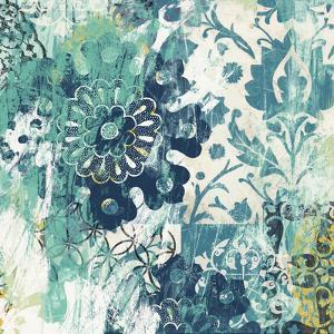 Blue Floral Layers II by June Vess