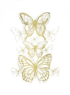 Gold Foil Butterfly Sketch II by June Vess