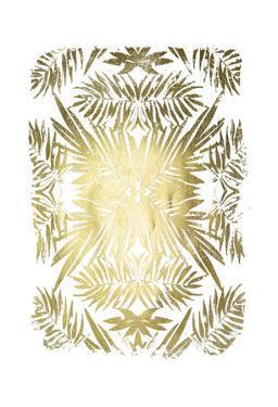 Gold Foil Tropical Kaleidoscope II by June Vess