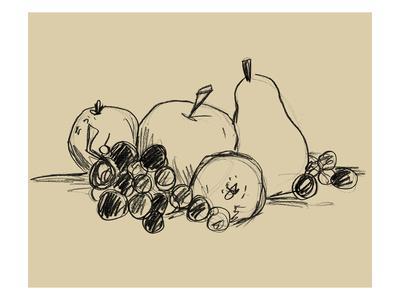 Graphite Fruit I