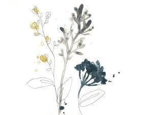 Navy Garden Inspiration I by June Vess