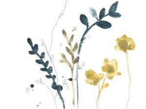 Navy Garden Inspiration VI by June Vess
