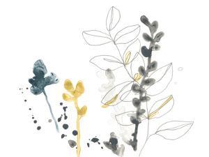 Navy Garden Inspiration VIII by June Vess