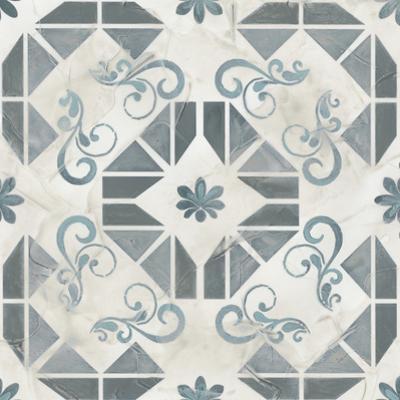 Teal Tile Collection VI by June Vess