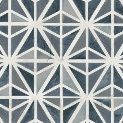 Teal Tile Collection VII by June Vess