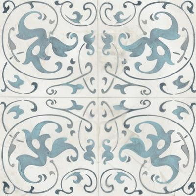 Teal Tile Collection VIII by June Vess