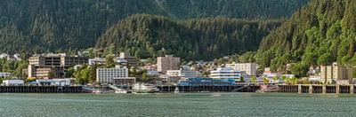 Juneau city at waterfront, Southeast Alaska, Alaska, USA