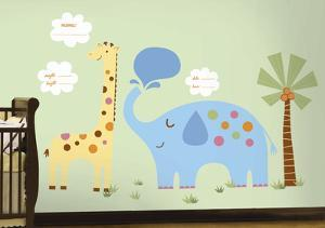 Jungle Animal New Baby Wall Decal MegaPack