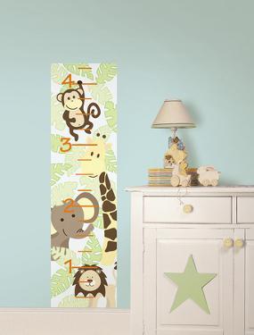 Jungle Friends Growth Chart Wall Decal Sticker