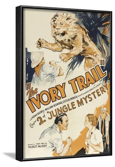 Jungle Mystery - the Ivory Trail--Framed Art Print