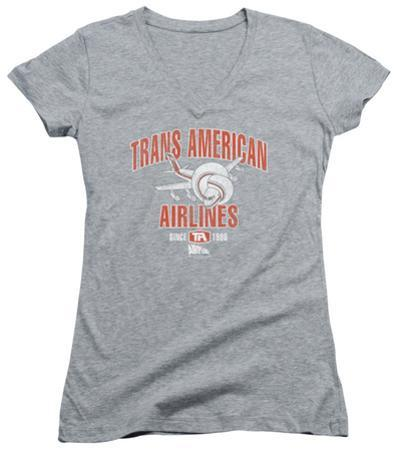 Juniors: Airplane - Trans American V-Neck