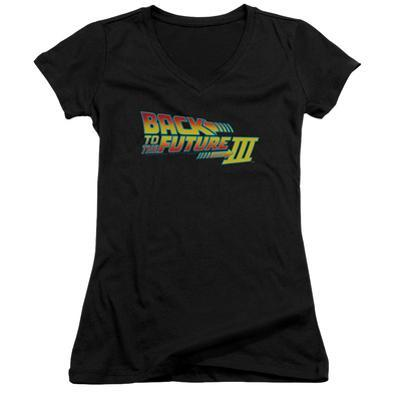 Juniors: Back To The Future III - Logo V-Neck