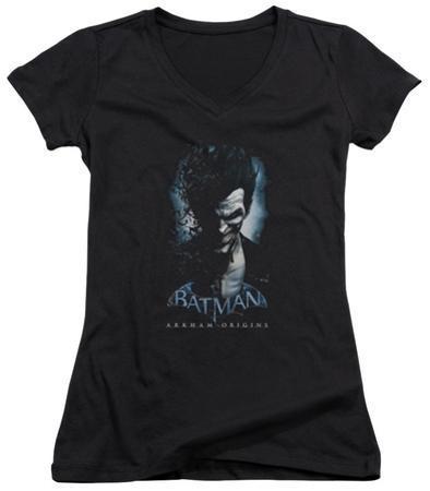 Juniors: Batman Arkham Origins - Joker V-Neck