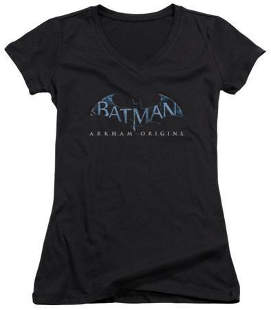 Juniors: Batman Arkham Origins - Logo V-Neck