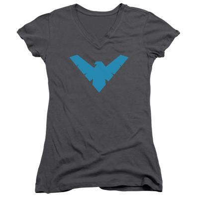 Juniors: Batman- Nightwing Symbol V-Neck