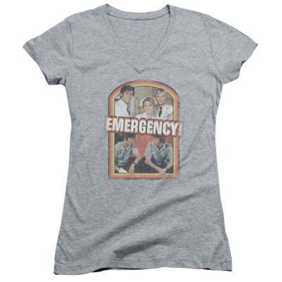 Juniors: Emergency - Retro Cast V-Neck