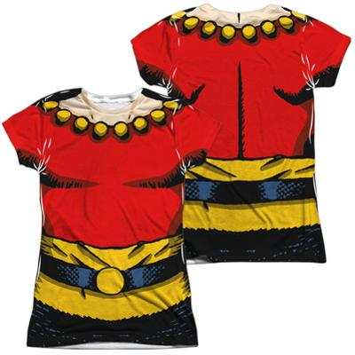 Juniors: Flash Gordon- Flash Costume Tee (Front/Back)