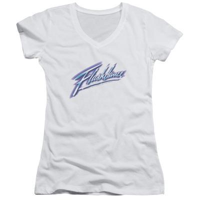 Juniors: Flashdance - Logo V-Neck