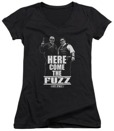 Juniors: Hot Fuzz - Here Come The Fuzz V-Neck