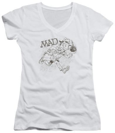Juniors: Mad Magazine - Sketch V-Neck