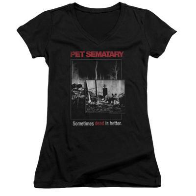 Juniors: Pet Semetary - Cat Poster V-Neck