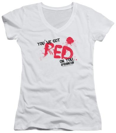 Juniors: Shaun Of The Dead - Red On You V-Neck