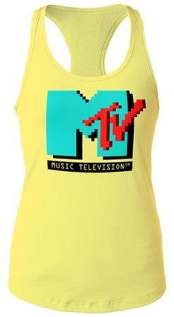 Juniors Tank: MTV- 8-Bit Logo