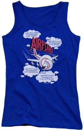 Juniors Tank Top: Airplane - Picked The Wrong Day