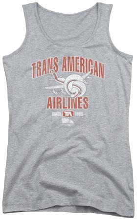 Juniors Tank Top: Airplane - Trans American