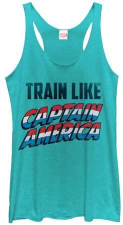 Juniors Tank Top: Captain America- Training Like
