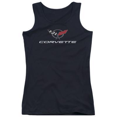 Juniors Tank Top: Chevy- Modern Corvette Logo