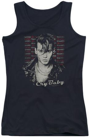 Juniors Tank Top: Cry Baby - Drapes & Squares