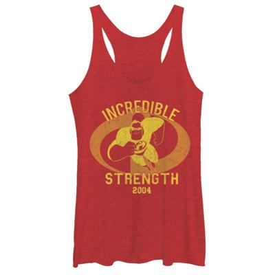 Juniors Tank Top: Disney: The Incredibles- Incredible Strength 2004 Scoop Neck