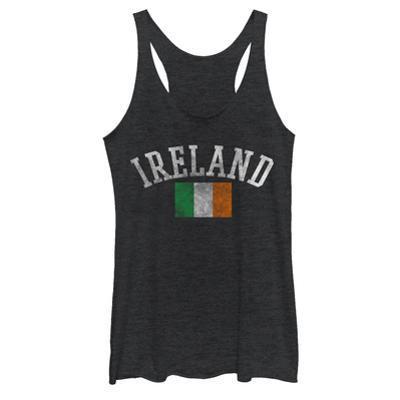 Juniors Tank Top: Distressed Irish Flag