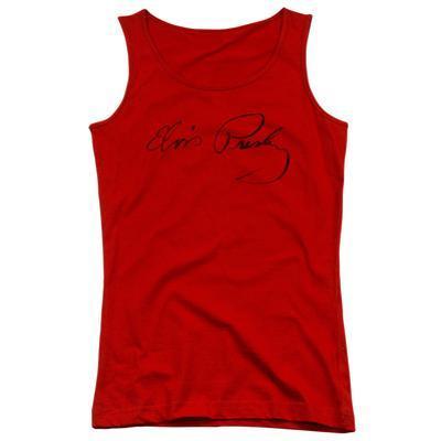 Juniors Tank Top: Elvis - Signature Sketch