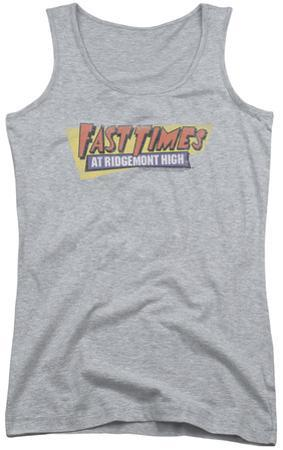Juniors Tank Top: Fast Times Ridgemont High - Distressed Logo
