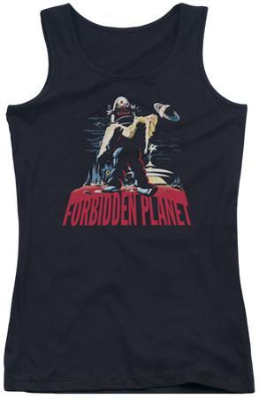 Juniors Tank Top: Forbidden Planet - Robby And Woman