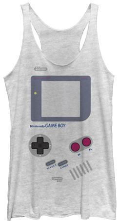Juniors Tank Top: Game Boy- Old School