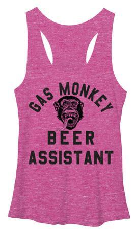 Juniors Tank Top: Gas Monkey- Beer Assistant