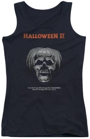 Juniors Tank Top: Halloween II - Pumpkin Poster
