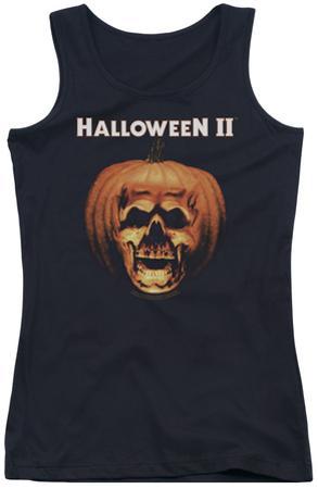 Juniors Tank Top: Halloween II - Pumpkin Shell