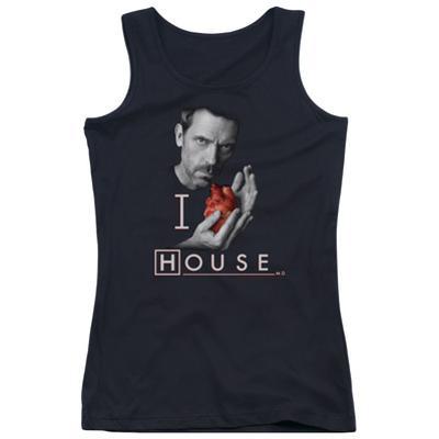 Juniors Tank Top: House - I Heart House