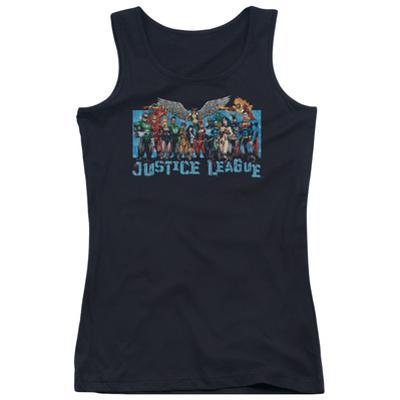 Juniors Tank Top: Justice League - League Lineup