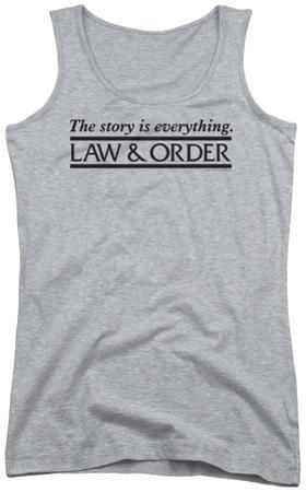 Juniors Tank Top: Law & Order - Story